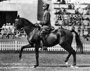Alois Podhajsky riding Nero at the 1936 Berlin Olympics